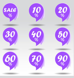sale sticker special offer ultra violet design vector image