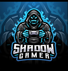 shadow gamer esport mascot logo vector image