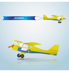 Small airplane eps10 vector