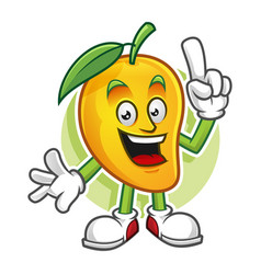 Smart mango character vector