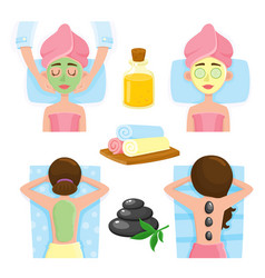 spa salon precedures and accessories mask vector image