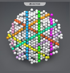 sphere abstract structure with particles vector image