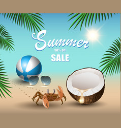 summer banner for promoting sale relaxing vector image