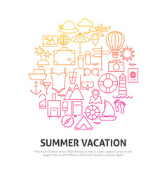 summer vacation circle concept vector image