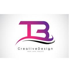 Tb t b letter logo design creative icon modern vector