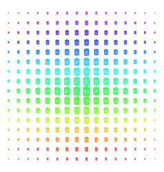 trash bin icon halftone spectral pattern vector image
