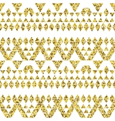 Tribal glitter golden seamless pattern vector image