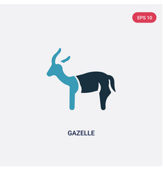 Two color gazelle icon from animals concept vector