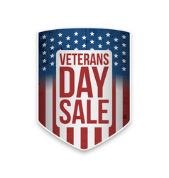 Veterans day sale banner with text vector