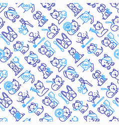 veterinary clinic seamless pattern vector image