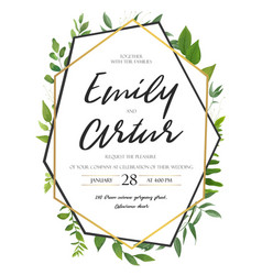 Wedding invite invitation save tehe date floral vector