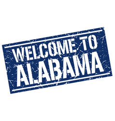 Welcome to alabama stamp vector