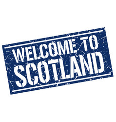 Welcome to scotland stamp vector