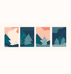 winter landscapes vertical banners and wallpaper vector image