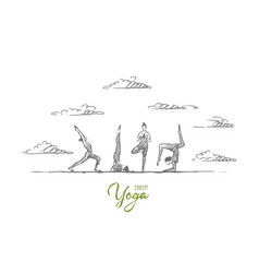 yoga concept hand drawn isolated vector image