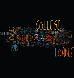You dont need student loans to go to college text vector
