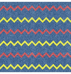 Zig-zag jeans background seamless pattern vector