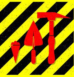 Construction works symbol vector