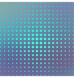 Halftone on the blue background vector image