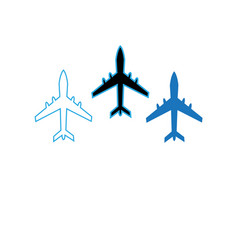 icons flying planes vector image vector image