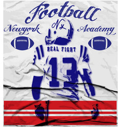 college football graphics for t-shirt graphics vector image vector image