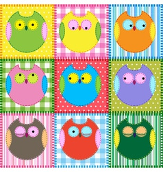 Colorful owls vector image