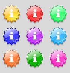 Information info icon sign symbol on nine wavy vector