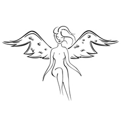 Naked fairy vector image vector image