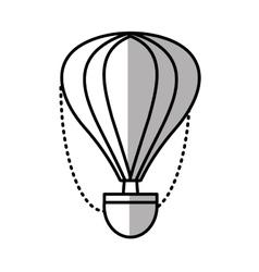 airballoon recreation vacation travel line shadow vector image vector image