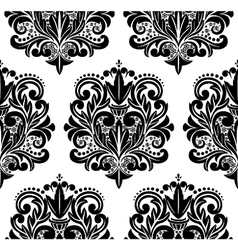 Beautiful seamless damask pattern vector image vector image
