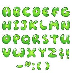 eco bubble alphabet vector image vector image