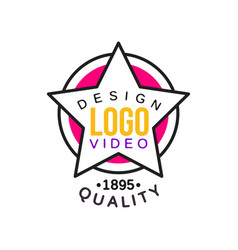 logo design template for cinema or video company vector image