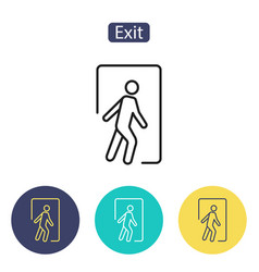 safe condition signemergency exit vector image vector image