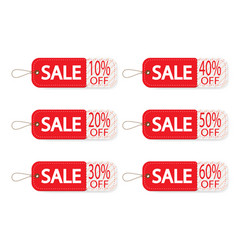 set of price discount sale tag label background vector image