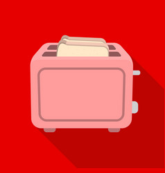 Toaster icon in flat style isolated on white vector