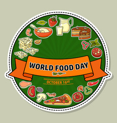 world food day of stylized vector image vector image