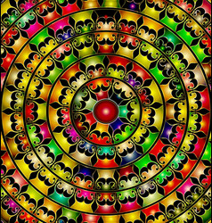 Abstract image of color circles consisting of vector