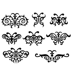 abstract scroll butterlfy vector image