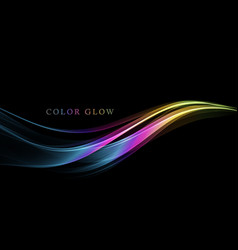 abstract shiny color spectrum wave design element vector image