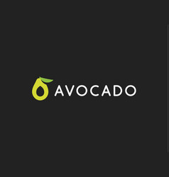 avocado logo template icon modern design vector image