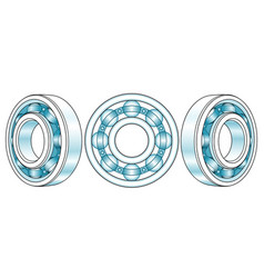ball bearings vector image