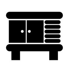 Bathroom cabinet icon vector