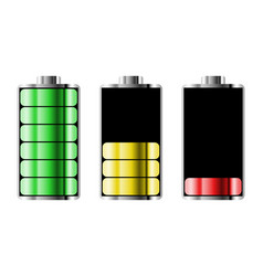 Battery charge status with lighting vector