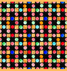 beautiful colored circles on dark background vector image