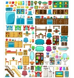 Big set of furniture vector image
