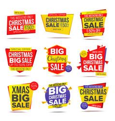 Biggest xmas offer sale banner crazy sale vector