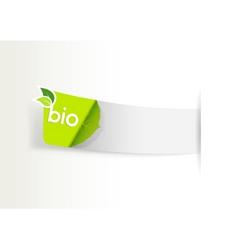 bio label vector image