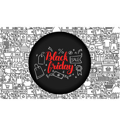 black friday website banner vector image