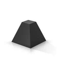 Black frustum square pyramid vector