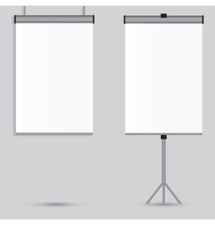 Blank paper poster on white wall eps-10 vector image